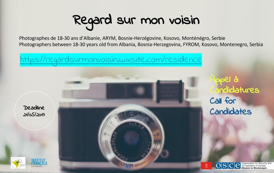 Regard Sur Mon Voisin Photography Artists Residency Program 2017
