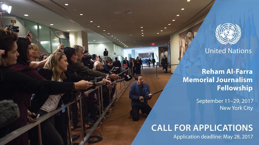 Reham Al-Farra Memorial Journalists Fellowship Programme 2017 (Funded)