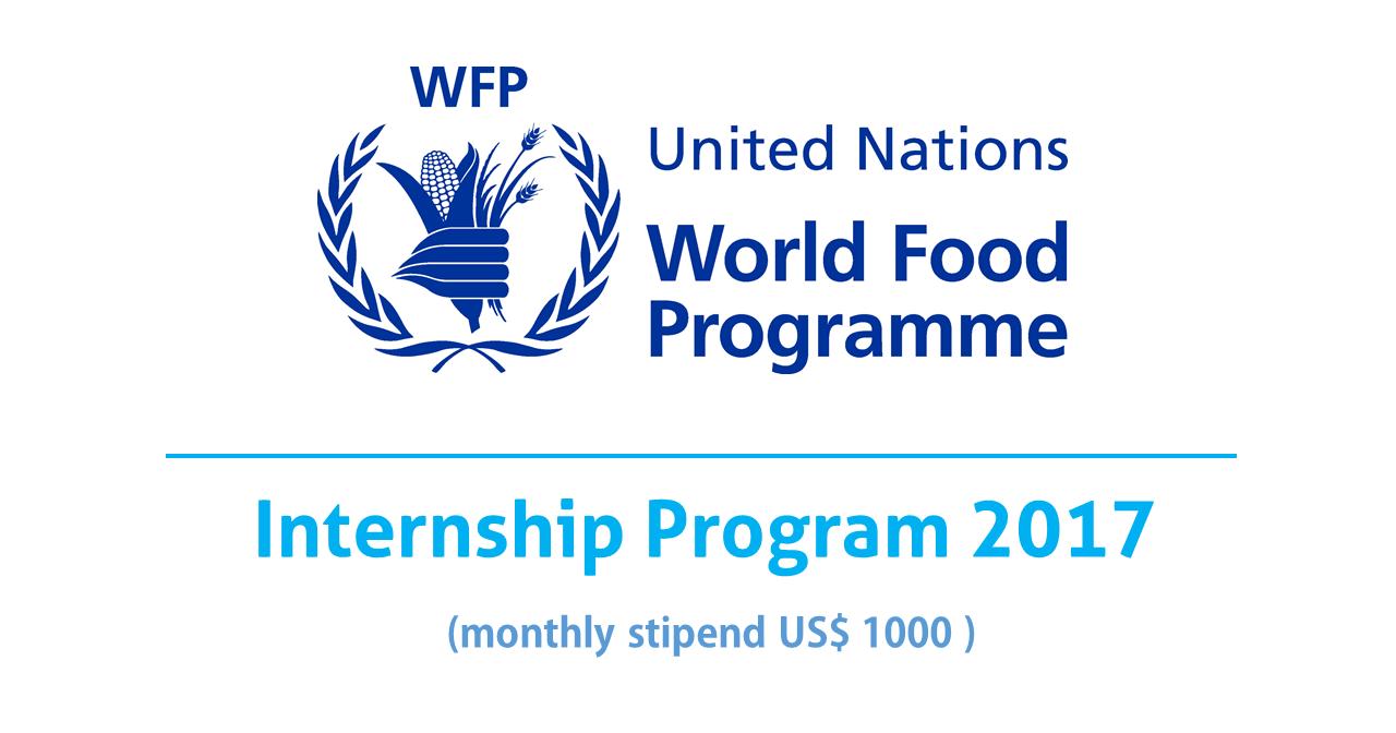 United Nations World Food Program Internship 2017