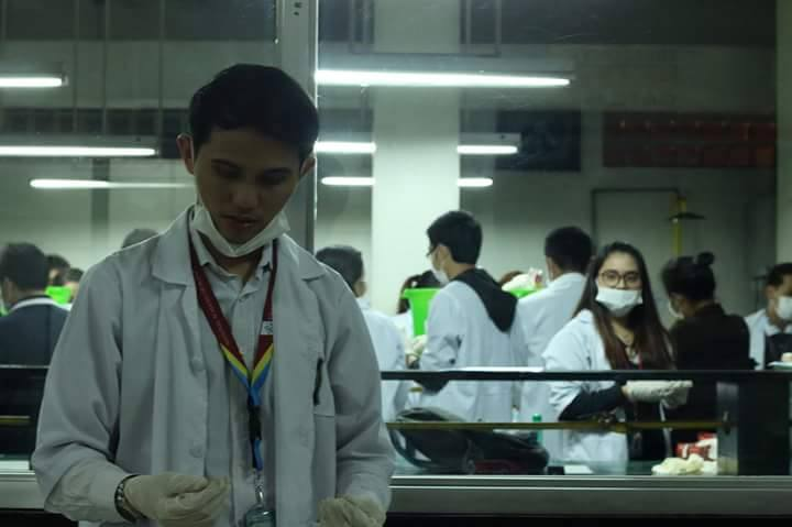 Mr. Manuel during Waste Analysis and Characterization Study - University Student Council