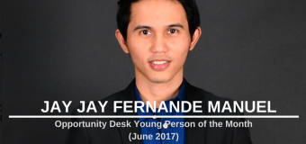 Jay Jay Fernandez Manuel from the Philippines is OD Young Person of the Month – June 2017!