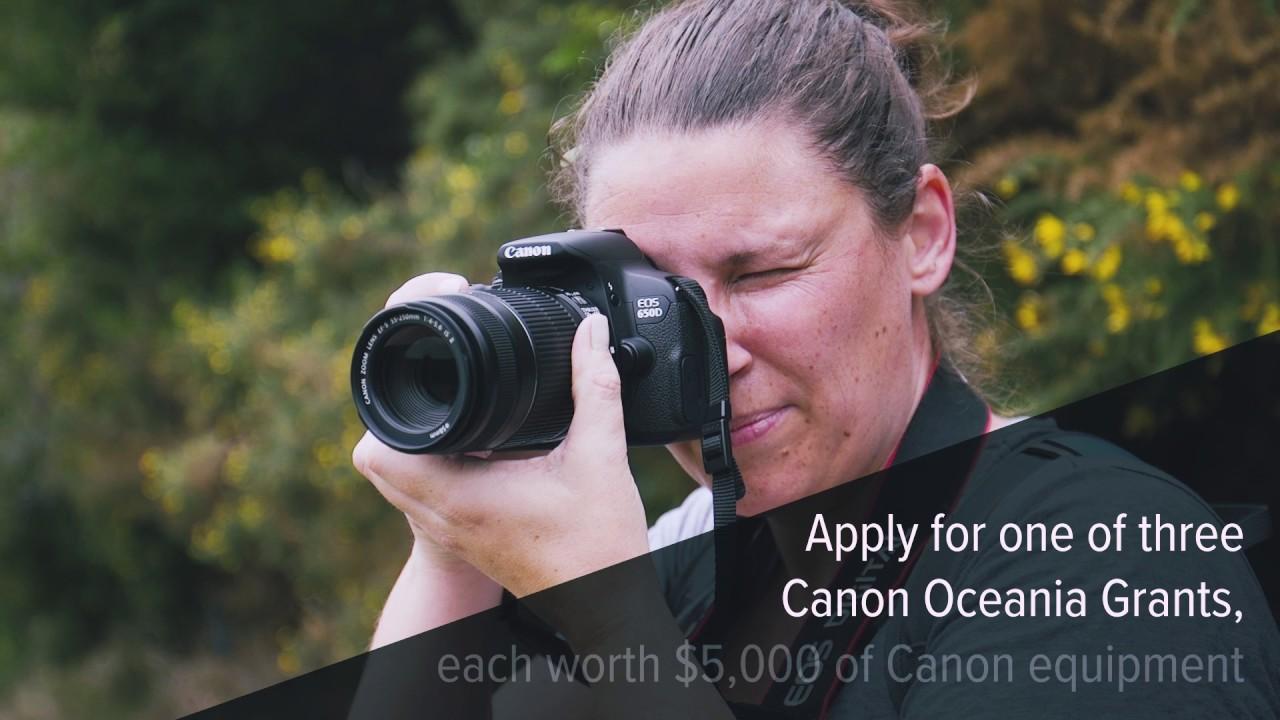 Canon Oceania Grants Program – Inspiring Tomorrow 2017