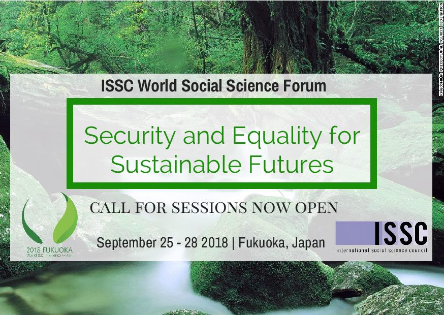 Call for Session Proposals: World Social Science Forum 2018