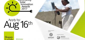 Hogan Lovells Community Solar Innovation Awards 2017