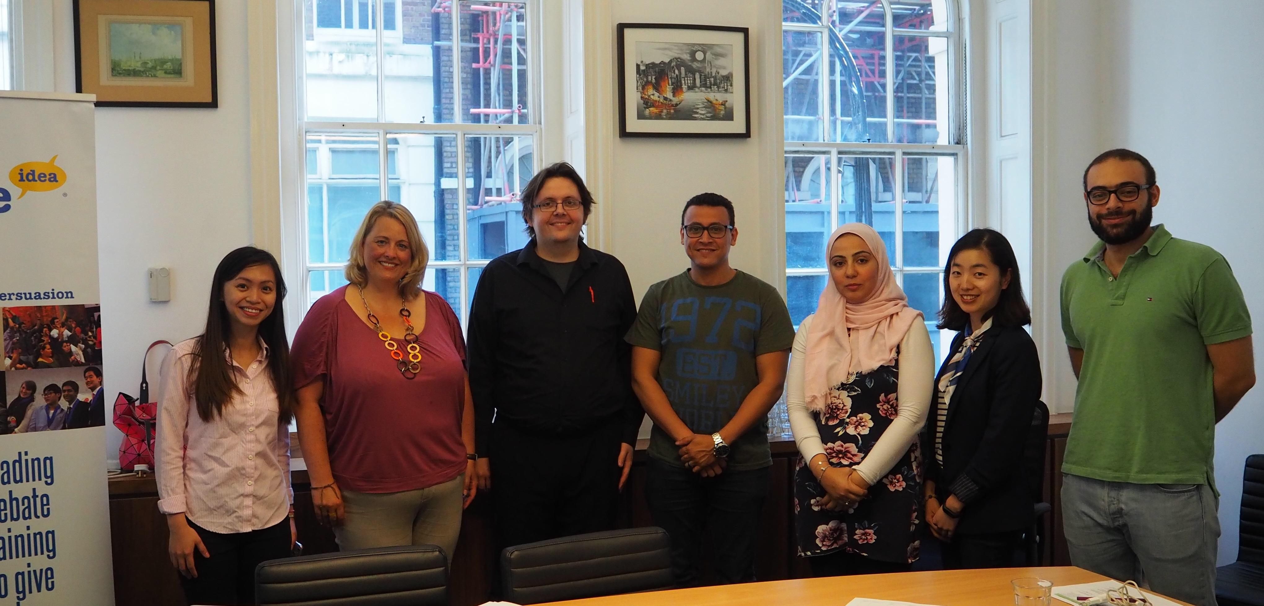 International Debate Education Association Internship in London 2017