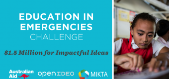OpenIDEO Education in Emergencies Challenge 2017 (Up to US$ 1.5 million for Winners)