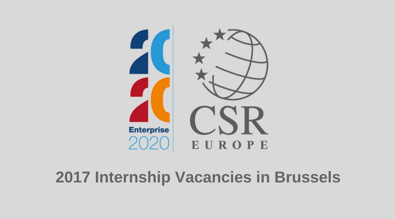 Apply for CSR Europe Paid Internship 2017 in Brussels
