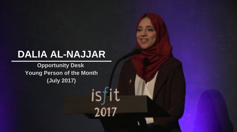Dalia Al-Najjar from Palestine is OD Young Person of the Month – July 2017!