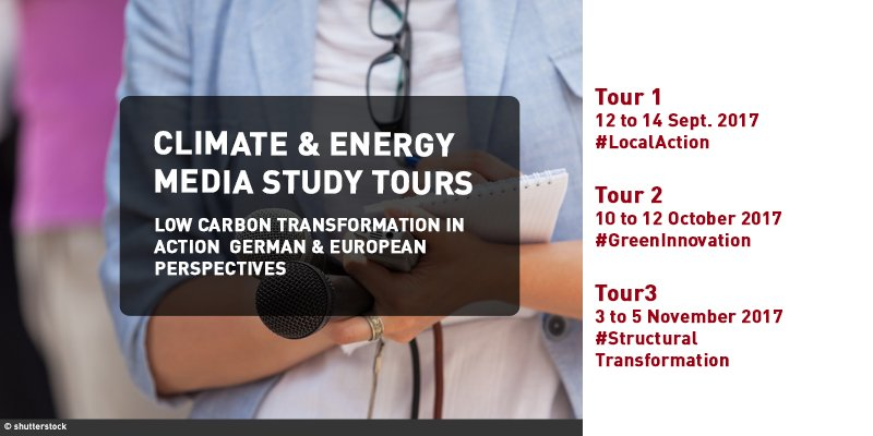 Climate and Energy Media Study Tours 2017 (Funded)