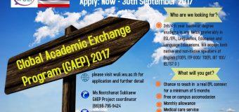 Global Academic Exchange Program 2017 (Paid Teaching Internship in Thailand)