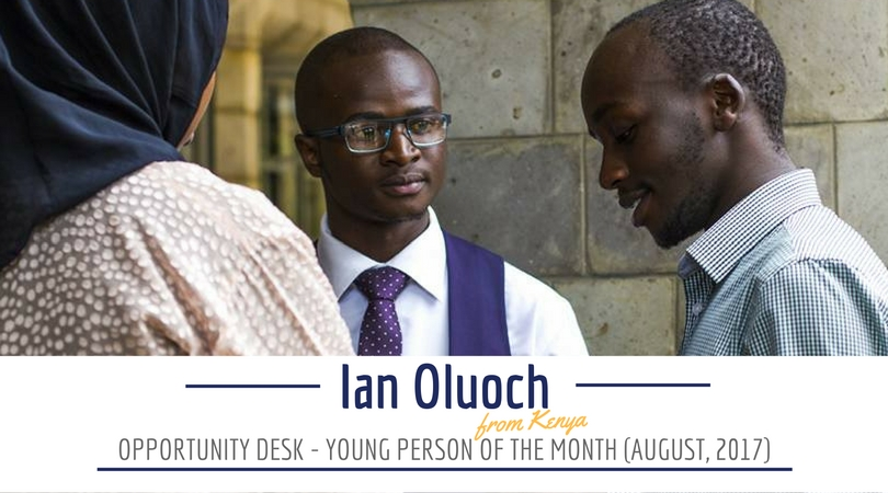 Ian Oluoch from Kenya is August 2017 OD Young Person of the Month!