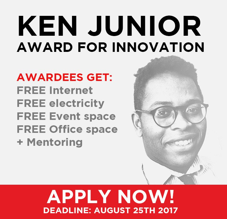 Apply for the Ken Junior Award for Innovation 2017