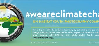 UN-Habitat Youth Photography Competition 2017 (Win A Trip to Bonn, Germany)