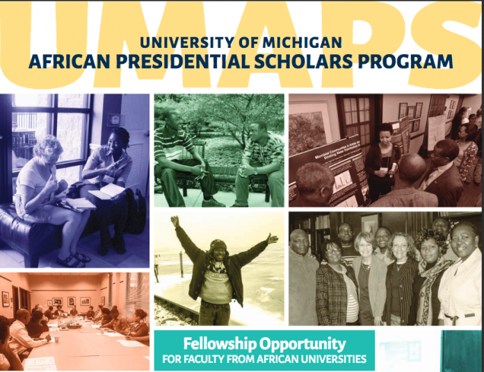 University of Michigan African Presidential Scholars Program 2018 (Fully-funded)