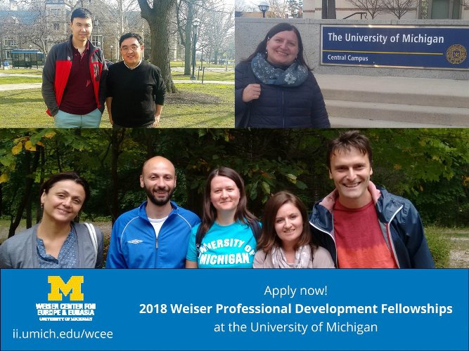 Weiser Professional Development Fellowship Program 2018 (fully-funded)