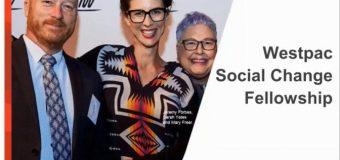Westpac Social Change Fellowship 2018 for Innovators