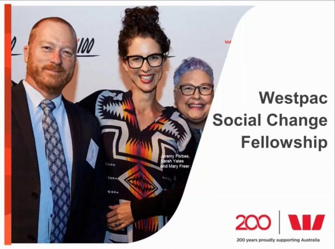 Westpac Social Change Fellowship 2018 for Innovators