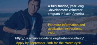 América Solidaria Volunteer Service Program 2018-2019 in Latin America (fully-funded)