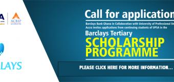 Barclays Tertiary Education Scholarship Programme 2018 for Ghanaians