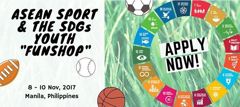 Call for Applications: UNESCO ASEAN Sport & the SDGs Youth Fun-shop 2017