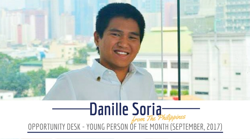 Danille Soria from the Philippines is the September 2017 OD Young Person of the Month!