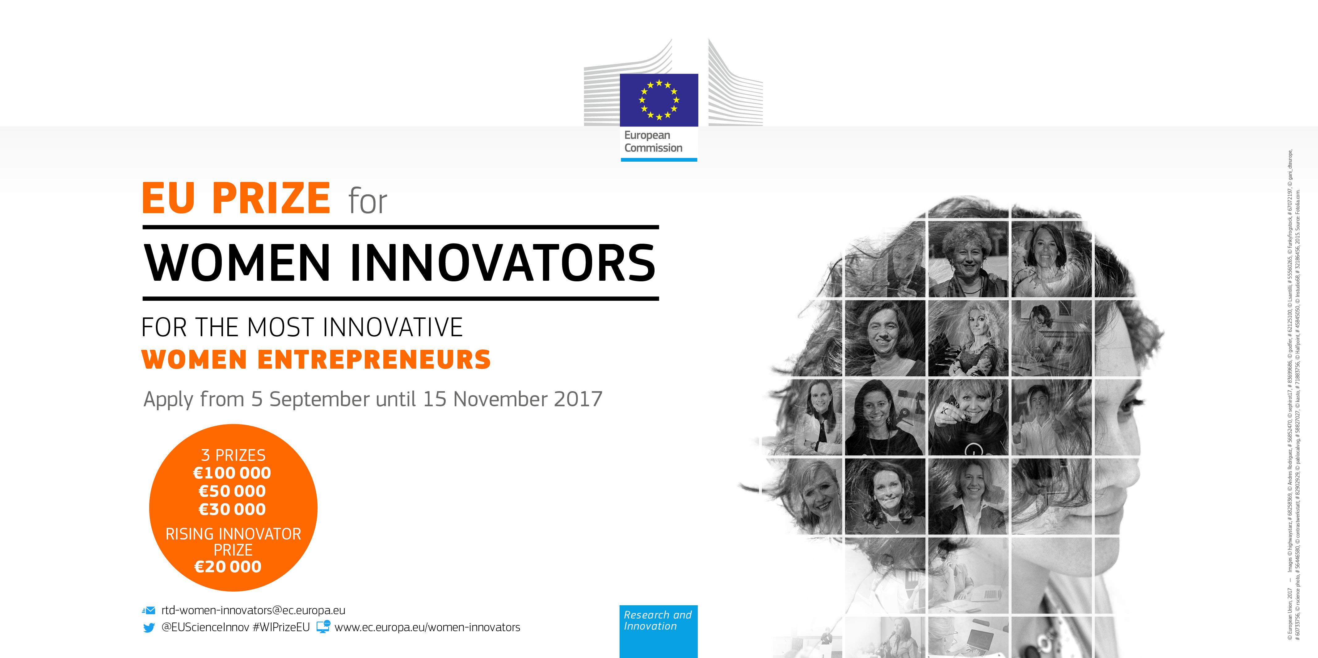 EU Prize for Women Innovators 2018 (For Innovative Women Entrepreneurs)