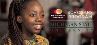 MasterCard Foundation Graduate Scholarship Program at MSU 2018 (fully-funded)