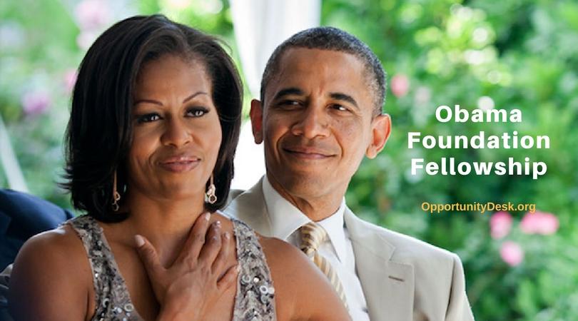 Obama Foundation Fellowship Program 2018 for Civic Innovators Worldwide (Fully-funded)