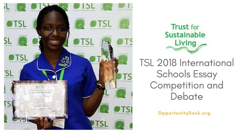 TSL International Schools Essay Competition and Debate 2018