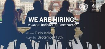 UNSSC is hiring an Individual Contractor to support their Courses – Turin, Italy
