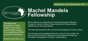 Brenthurst Foundation Machel-Mandela Fellowship Programme 2018 (Funded)