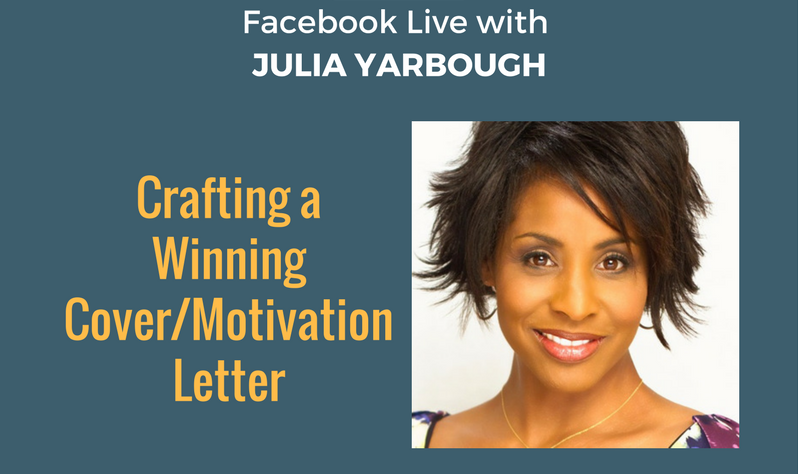 "OD Facebook Live with Julia Yarbough on ""Crafting a Winning Cover/Motivation Letter"""