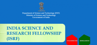 India Science and Research Fellowship Programme 2018-2019