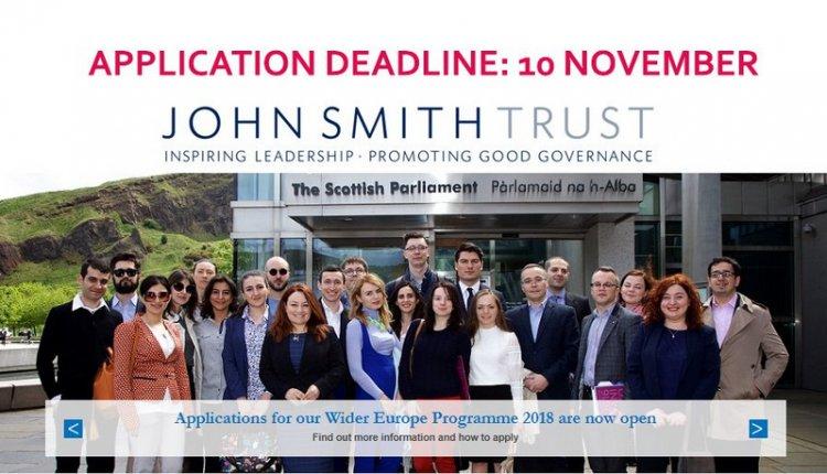 John Smith Trust Wider Europe Fellowship Programme 2018