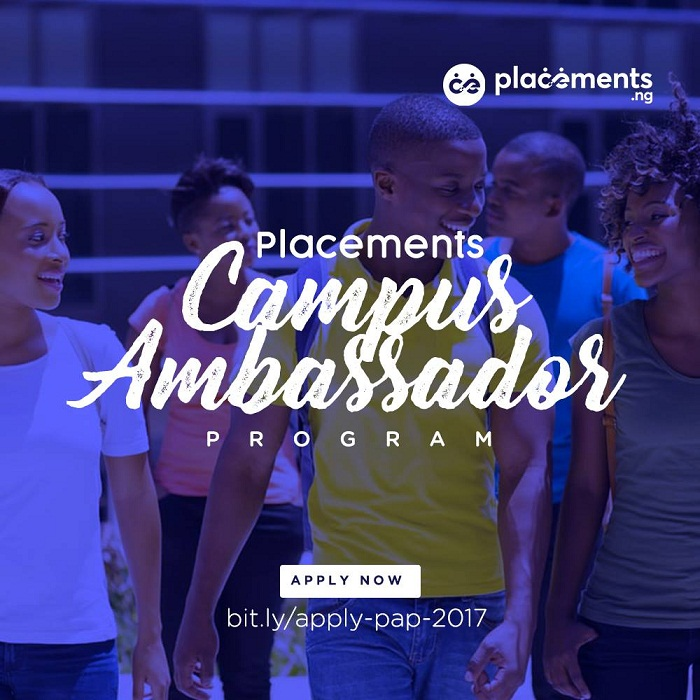 Apply for the Placements Nigeria Campus Ambassador Program 2017