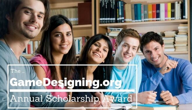 The GameDesigning Annual Scholarship Award for Students 2018