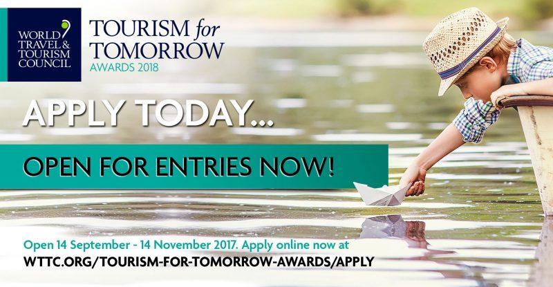 Apply for the WTTC Tourism for Tomorrow Awards 2018