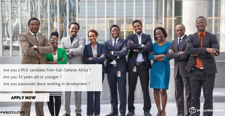 Apply: World Bank Group Africa Fellowship Program 2018 for PhD Students & Graduates