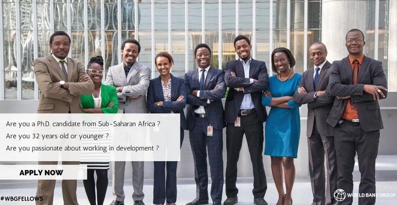 World Bank Group Africa Fellowship Program 2019 for PhD Students & Graduates