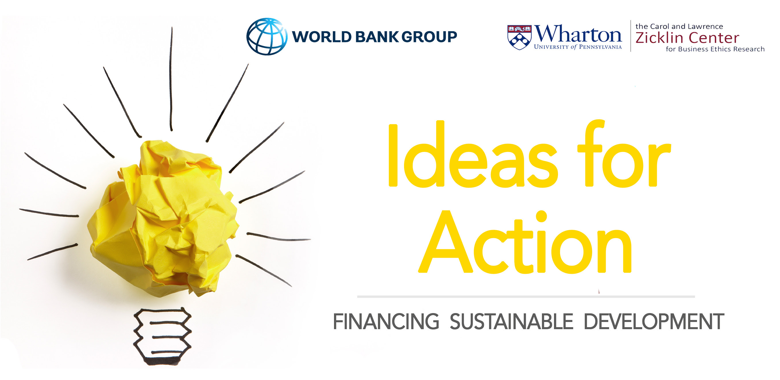 World Bank/Wharton School Ideas for Action Competition 2018