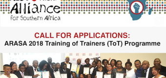 Call for Applications: ARASA Training of Trainers (ToT) Programme 2018