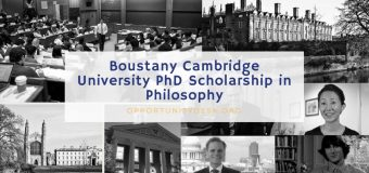 Boustany Cambridge University PhD Scholarship in Philosophy 2018