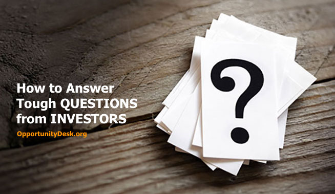 How to Answer Tough Questions from Investors