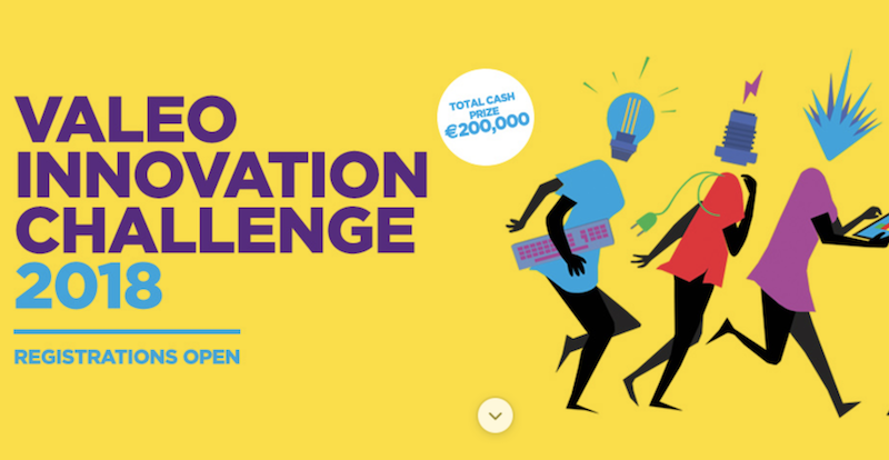 Valeo Innovation Challenge 2018 (Pitch in Paris and win a share of €200,000)