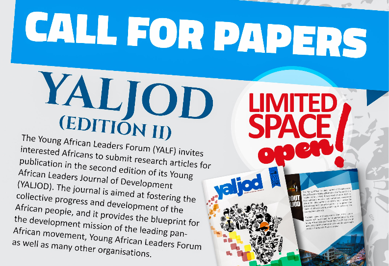 Call for Papers: Young African Leaders Journal of Development (2nd Ed.)