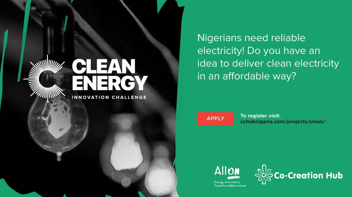 2018 Clean Energy Innovation Challenge ($10,000 prize for Nigerian Innovators)
