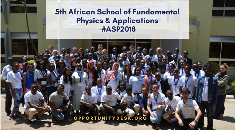 5th African School of Fundamental Physics & Applications – ASP 2018 in Namibia (Fully-funded for Students)