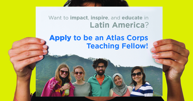 Atlas Corps English Teaching Fellowship In Latin America 2018