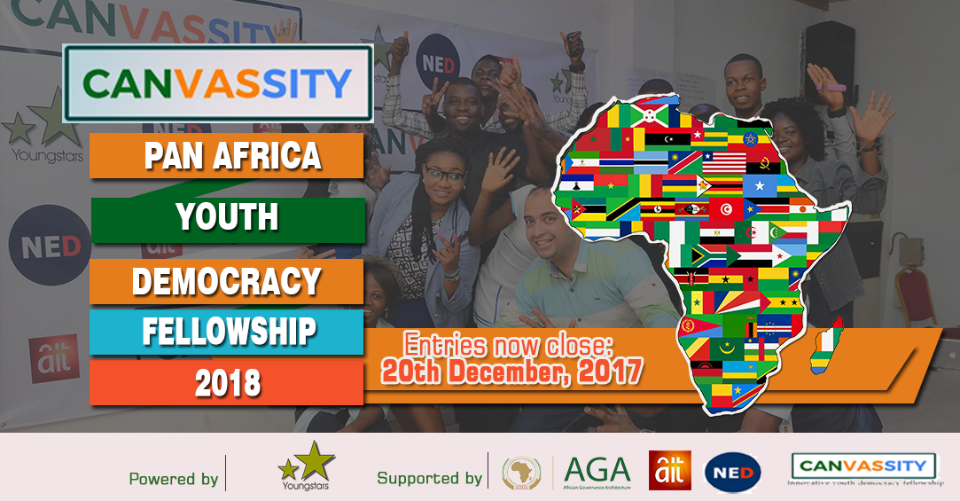 CANVASSITY Pan African Youth Democracy Fellowship 2018 (funded)