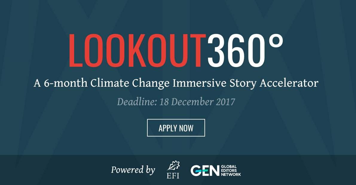 Lookout360° Climate Change Immersive Story Accelerator 2018 (Win a trip to Lapland, Finland)